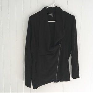 H By Bordeaux Asymmetrical Zip Jacket